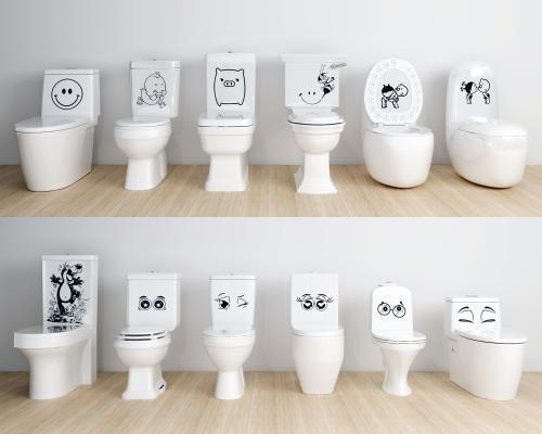 现代卡通马桶