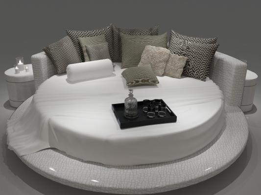 现代圆床情趣床