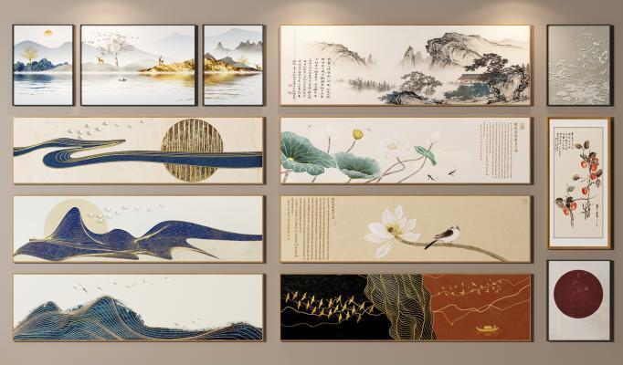 新中式裝飾畫