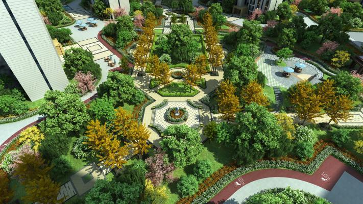 现代小区绿化景观