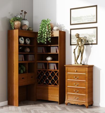 现代书柜 装饰边柜 角柜