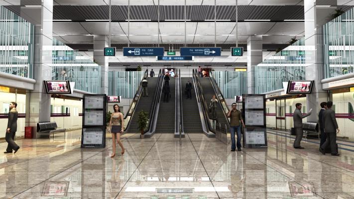 现代交通工具 地铁