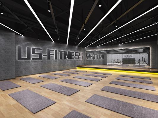 工业风瑜伽室 健身房 操房