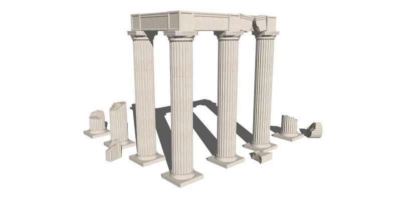 柱子 罗马柱 欧式柱