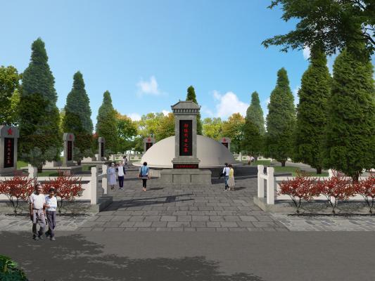 新中式公墓烈士陵园墓碑