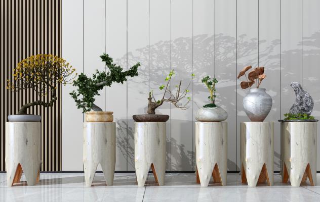 现代植物盆栽 装饰摆件