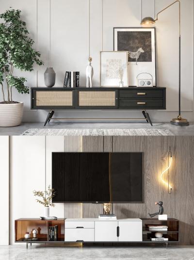 現代電視柜 裝飾畫 擺件