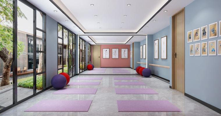 现代瑜伽室
