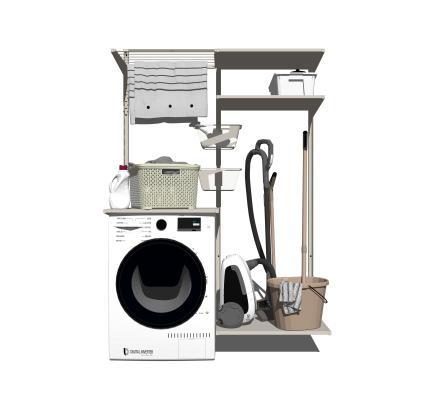 现代洗衣机 吸尘器 拖把