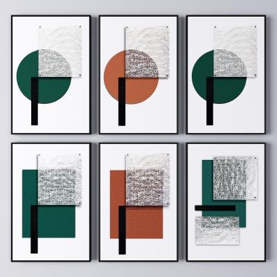 现代轻奢抽象装饰挂画 抽象画 艺术画