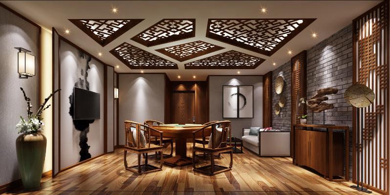 新中式娱乐棋牌室