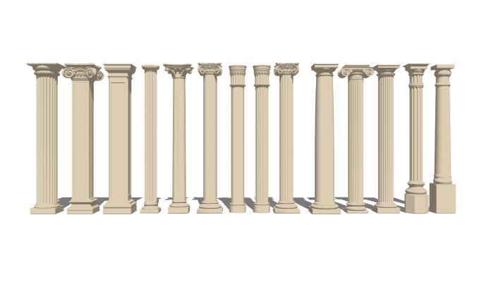 欧式石膏罗马柱