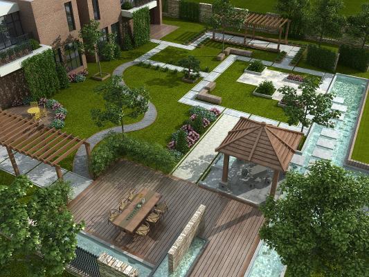 现代花园庭院景观