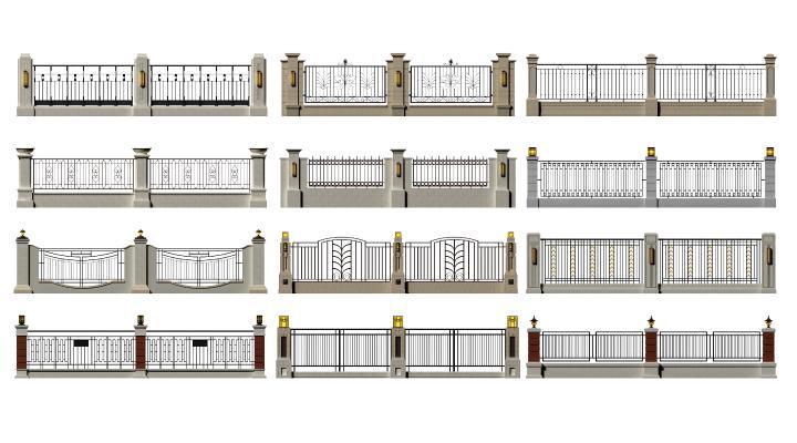 简欧围栏 围墙