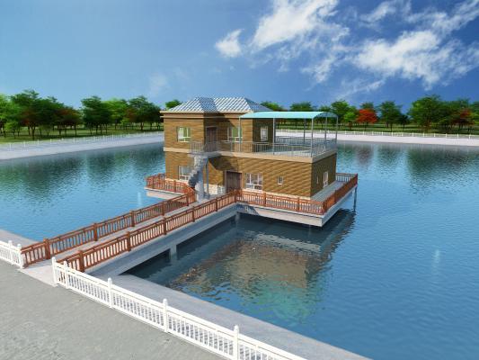 现代观景房,别墅,湖上观景房