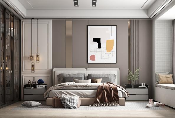 現代臥室 裝飾畫