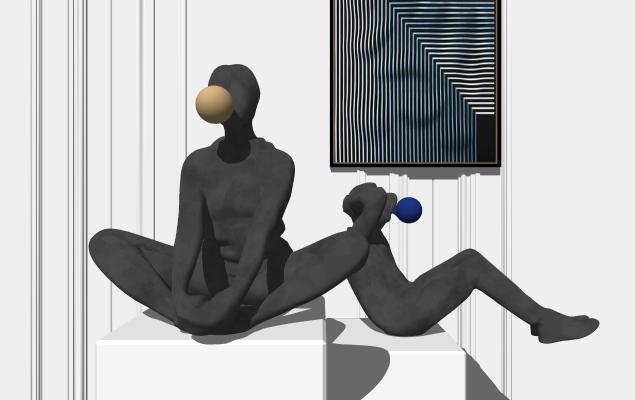 现代人物雕塑 装饰品摆件