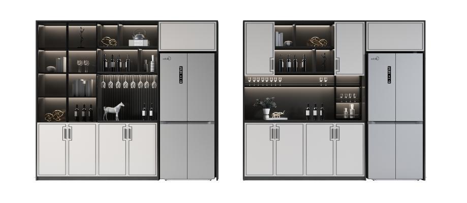 新中式酒柜 冰箱