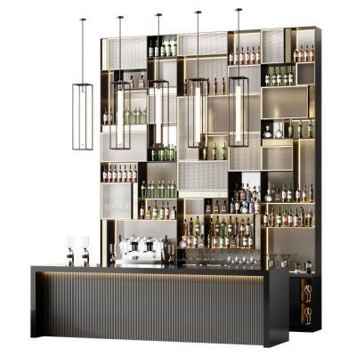 现代酒柜吧台组合 水吧 酒水