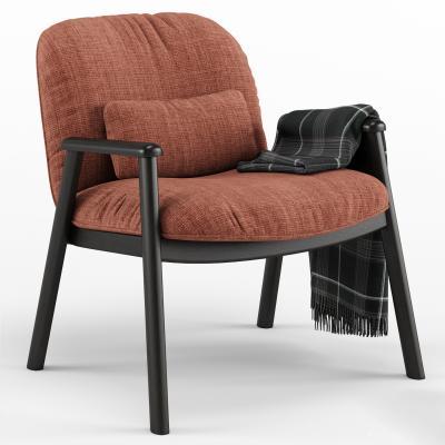 现代布艺休闲椅
