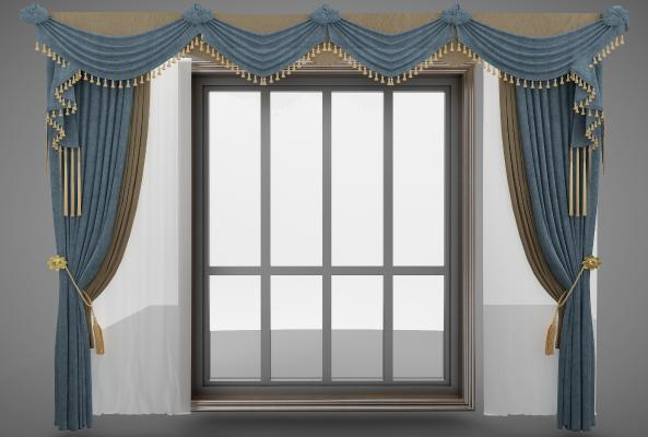 欧式风格布艺软饰 窗帘