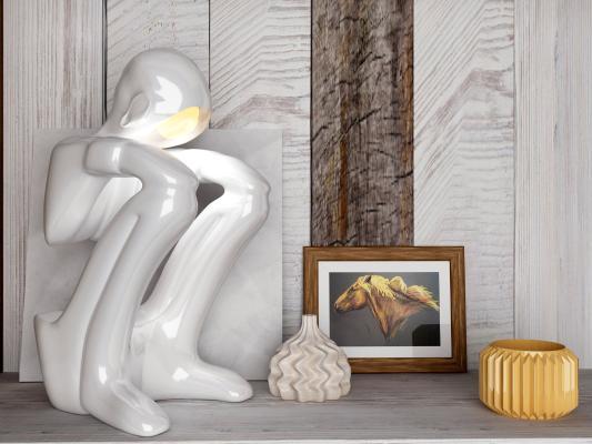 现代创意艺术台灯 摆件