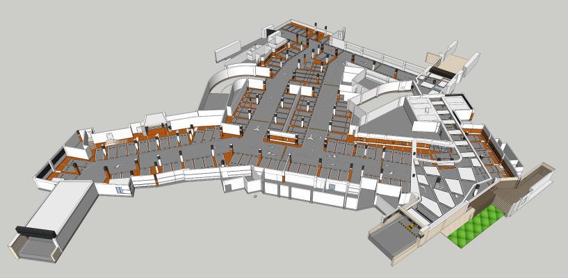 停车场 地下停车场 车站 停车