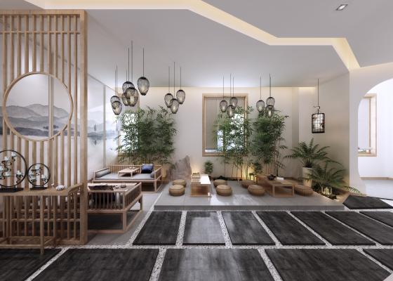 新中式休息厅 瑜伽馆