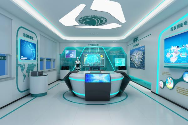 现代电网科技展厅 展柜 电子显示屏