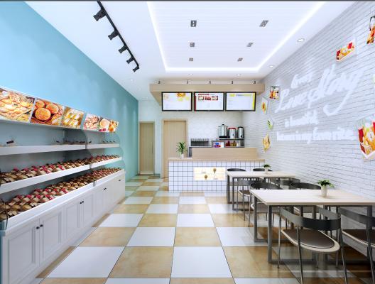 现代甜品奶茶店