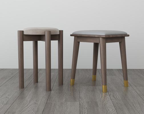 现代简约凳子 方凳 圆凳
