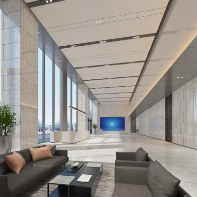 现代前台 大厅 沙发