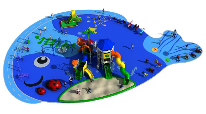 现代风格游乐设备 游乐场