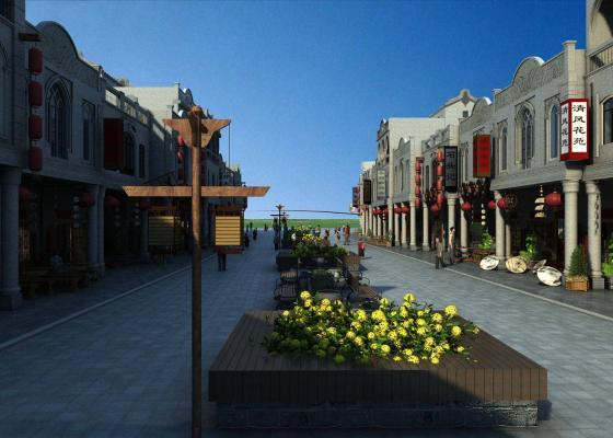 新中式风格商业街