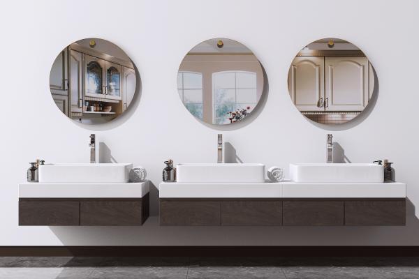 现代洗手台组合 浴室柜 面盆