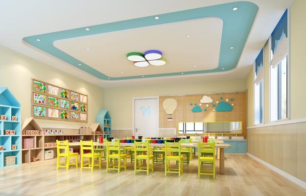 现代幼儿园 美工室