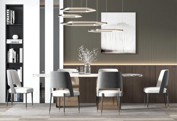 现代餐厅 餐桌椅组合