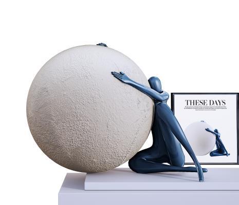 现代雕塑摆件