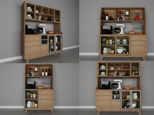 北欧餐边柜组合储物斗柜茶水柜