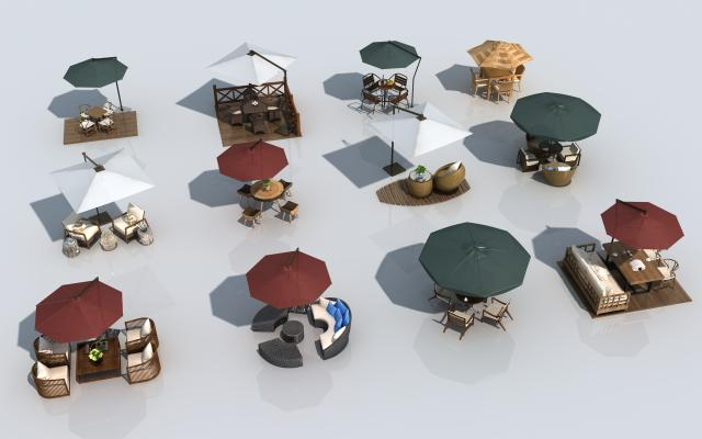 现代室外桌椅
