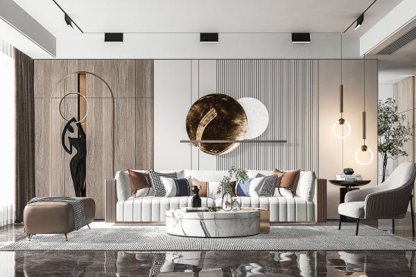 现代多人沙发 客厅 休闲椅