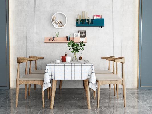 北欧餐桌椅 装饰品 摆件