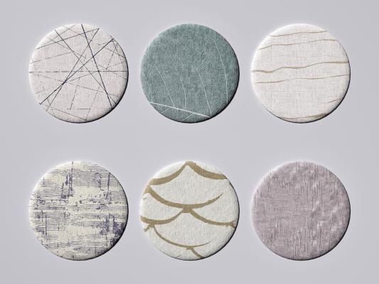 现代圆形地毯 布艺地毯