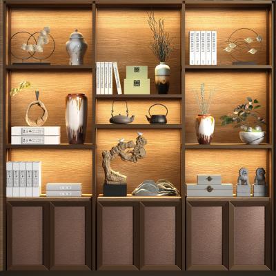 新中式实木金属装饰柜 饰品组合