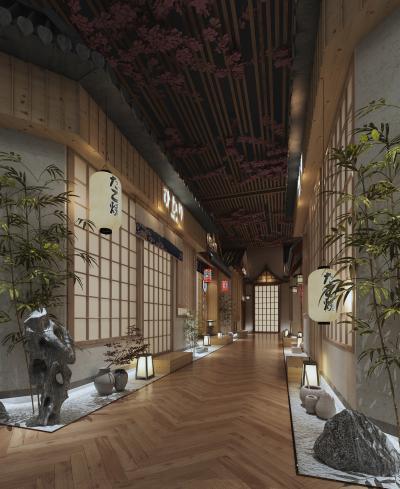 日式餐廳過道