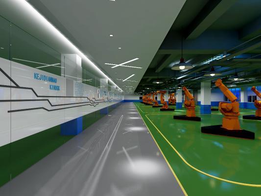 现代机械展厅 生产区