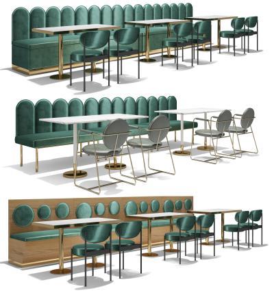 现代沙发桌椅组合