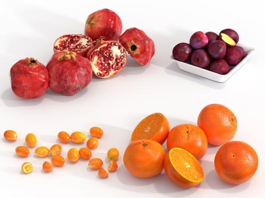 现代水果 石榴 金桔 柑橘