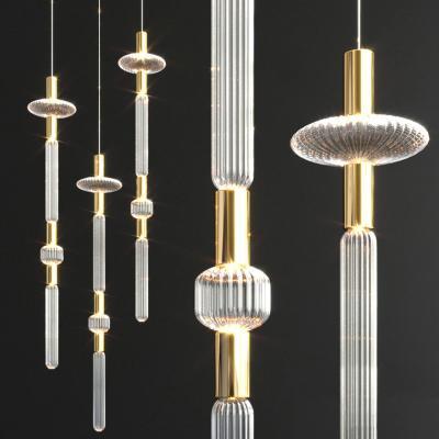 现代轻奢金属玻璃吊灯
