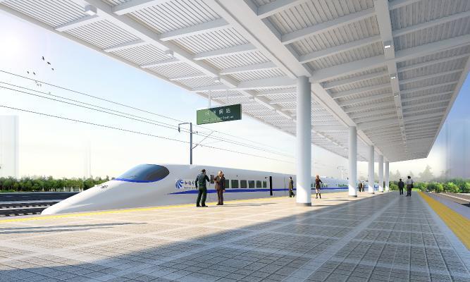 现代高铁站台设计